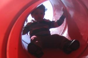 tunnel slide, lincoln square